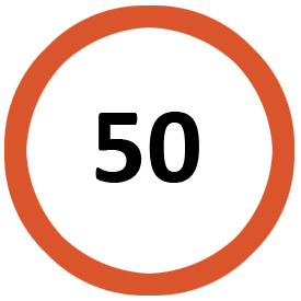 Maximum speed limit 50 Km/h