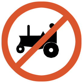 No entry for agricultural vehicle