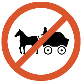 No entry for animal drawn vehicle
