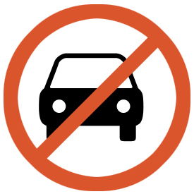 No entry for motor vehicle