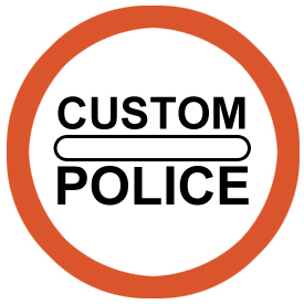 Passing police custom post without stopping