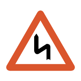 Double bend to the left