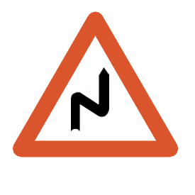 Double bend to the right
