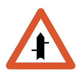 Minor cross roads from left and right respectively