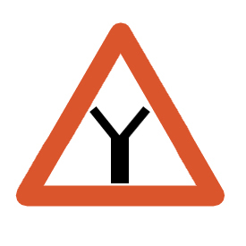 Yield to the traffic approaching from the right on any leg of the intersection