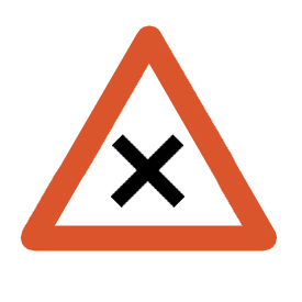 Yield to the traffic approaching from the right on the cross road